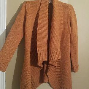 Merona Sweaters - Merona Burnt Orange open cardigan sweater small